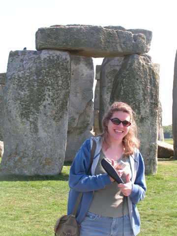I'm super excited in front of Stonehenge