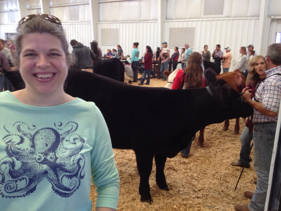 Jocelyn with Cow