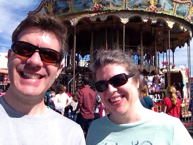 Brian and Jocelyn at the fair