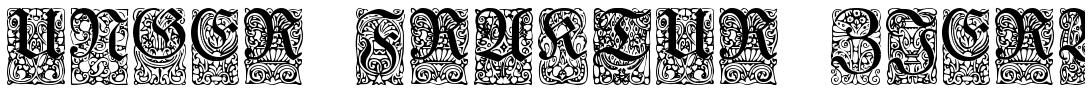 Unger Fraktur Zierbuchstaben