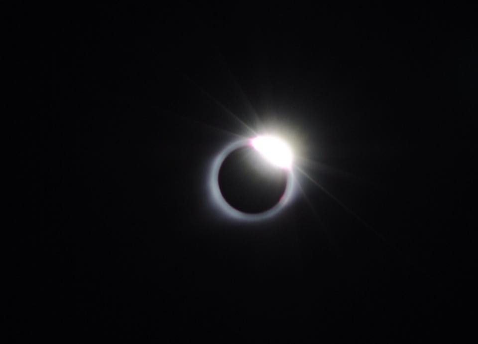 Diamond ring after eclipse totality