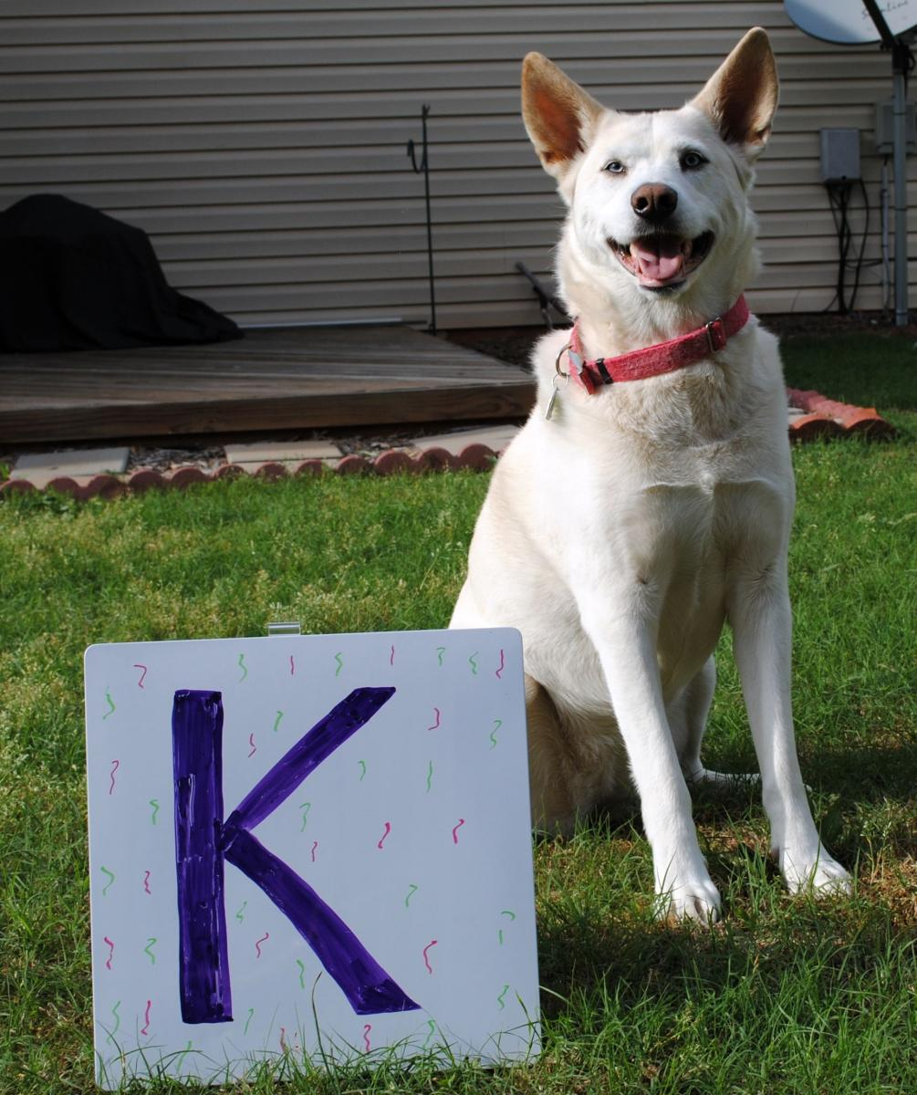 Freya with the letter K
